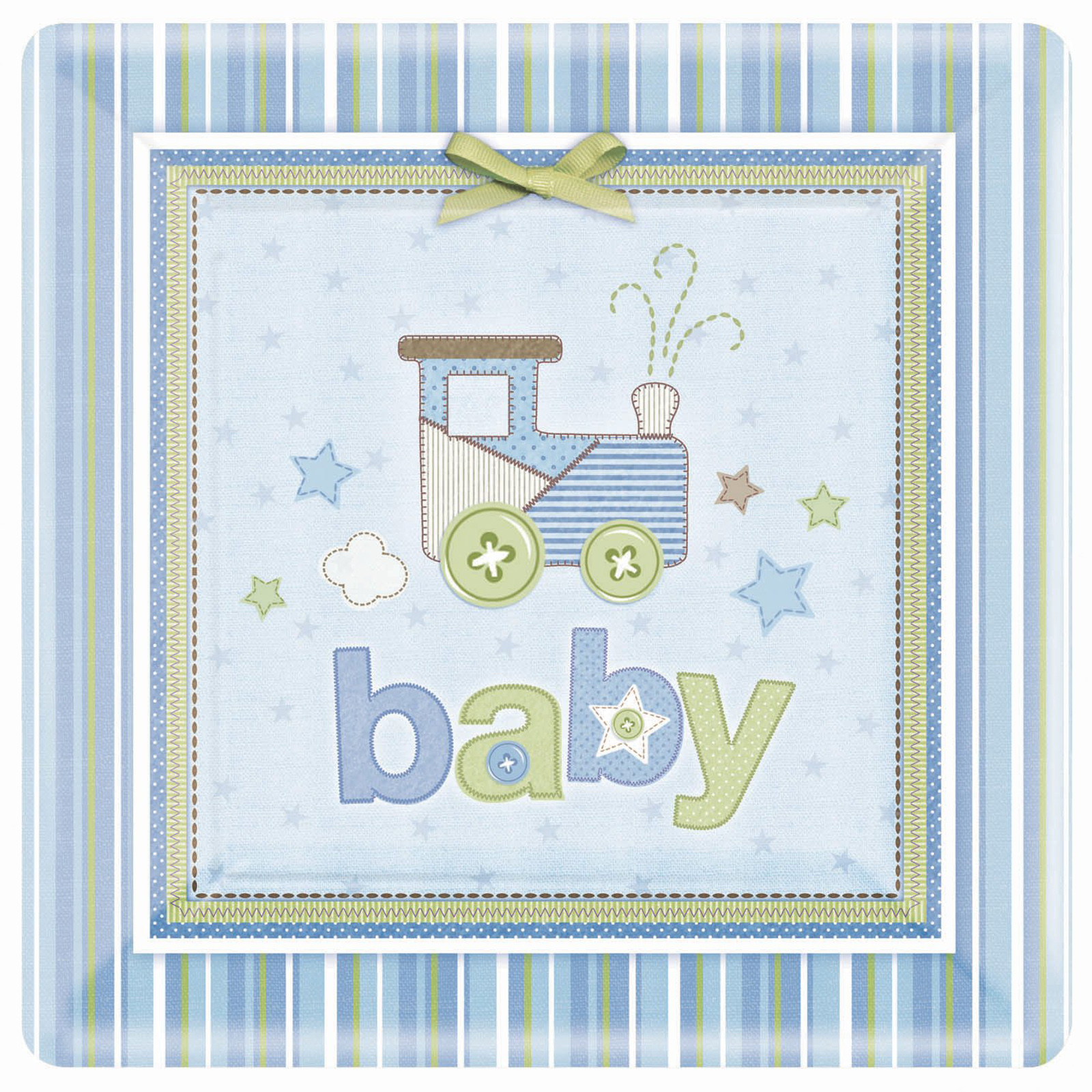 BuySeasons Carter's Baby Boy Square Dinner Plates (10 Inch) (8 Count)