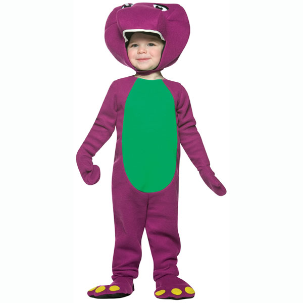 BuySeasons Barney and Friends-Barney Toddler Costume (Boy's & Girl's Toddler 3T - 4T)