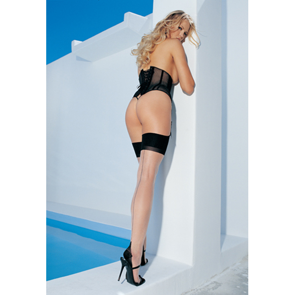 Leg Avenue Costume & Lingerie Thigh High Stockings - Two Tone Thigh High Stockings with Backseam